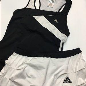 Adidas Climacool tennis outfit Black White Medium
